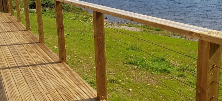 Decking, view over Loch Ness