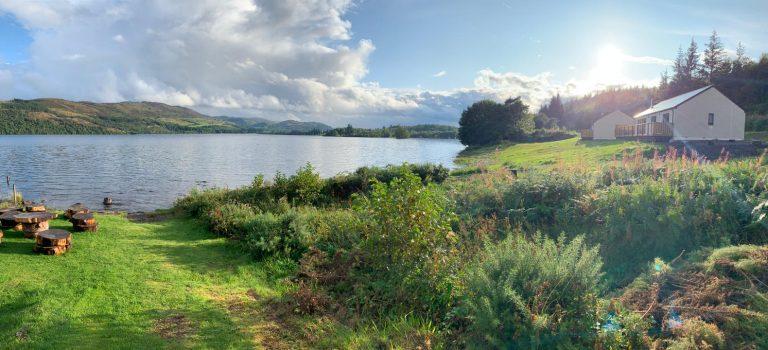 Shoreland lodges views of Loch Ness